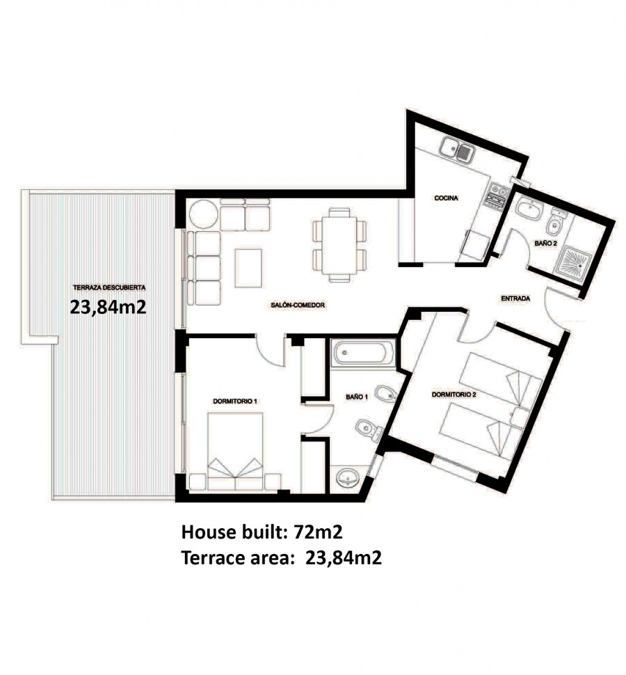 2 Slaapkamer Penthouse Te Koop